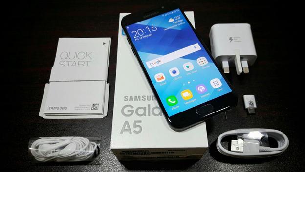 محتويات علبة هاتف Samsung Galaxy A5 2017