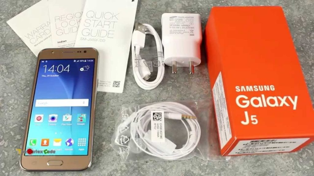 محتويات علبة هاتف Samsung J5 prime