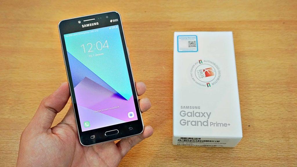 محتويات علبة هاتف Samsung Galaxy Grand Prime Plus