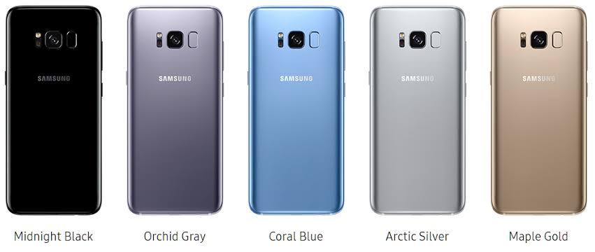 الوان هاتف Samsung Galaxy S8