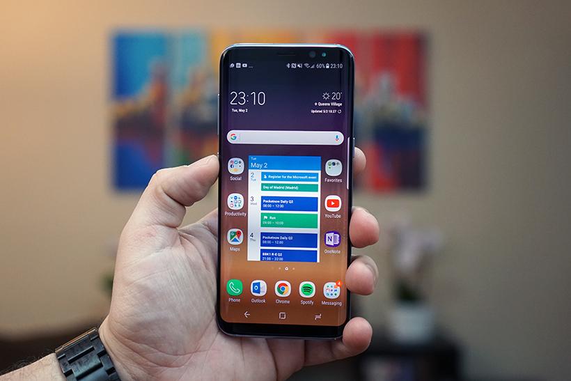 شاشة هاتف Samsung Galaxy S9