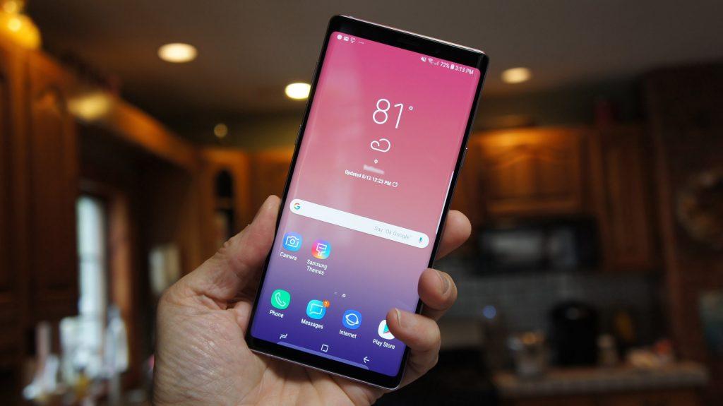 شاشة هاتف Samsung Galaxy Note 9