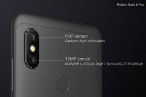 كاميرا هاتف Xiaomi Redmi Note 6 Pro