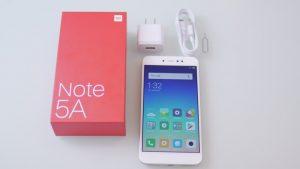 محتويات علبة Xiaomi Redmi Note 5A Prime
