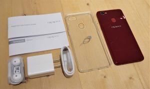 محتويات علبة هاتف Oppo F7