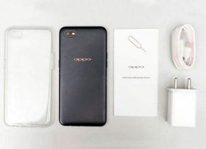 محتويات علبة هاتف Oppo A1k