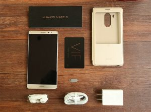 محتويات صندوق هاتف Huawei Mate 8