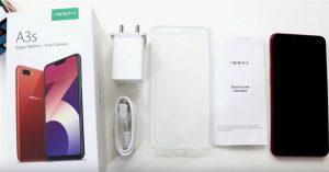 محتويات علبة هاتف Oppo A3s