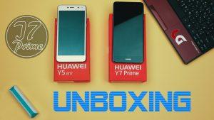 محتويات صندوق هاتف Huawei Y7 Prime