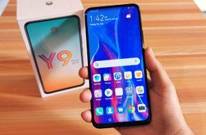 محتويات صندوق هاتف Huawei Y9 Prime 2019