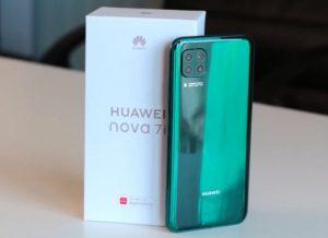 محتويات صندوق هاتف Huawei Nova 7i