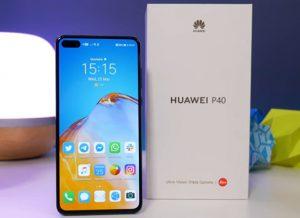 محتويات صندوق هاتف Huawei P40
