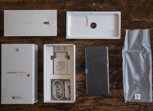 محتويات صندوق هاتف Huawei P40 Pro
