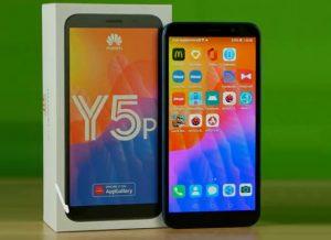 محتويات صندوق هاتف Huawei Y5p