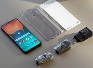 محتويات علبة هاتف Samsung Galaxy A30s