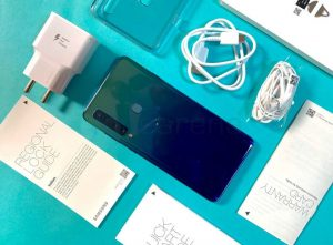 محتويات علبة هاتف Samsung Galaxy A9 2018