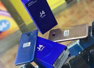 محتويات علبة هاتف Samsung Galaxy J4 Core
