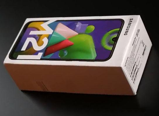 محتويات علبة Samsung Galaxy M21
