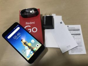 محتويات علبة هاتف Xiaomi Redmi Go