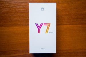 محتويات صندوق هاتف Huawei Y7 Prime 2018