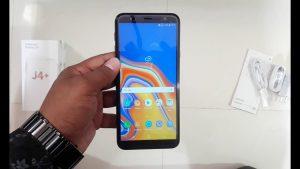 محتويات علبة هاتف Samsung Galaxy J4 Plus