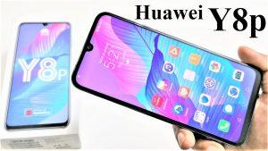 محتويات صندوق هاتف Huawei Y8p