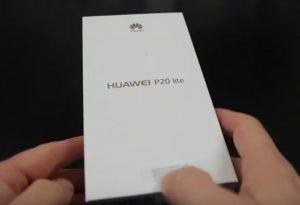 محتويات صندوق هاتف Huawei P20 Lite