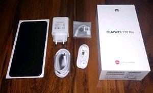 محتويات صندوق هاتف Huawei P20 Pro