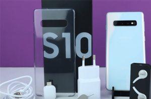 محتويات علبة هاتف Samsung Galaxy S10
