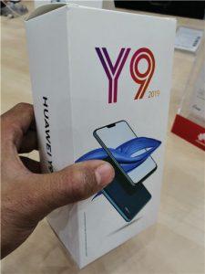 محتويات صندوق هاتف Huawei Y9 2019