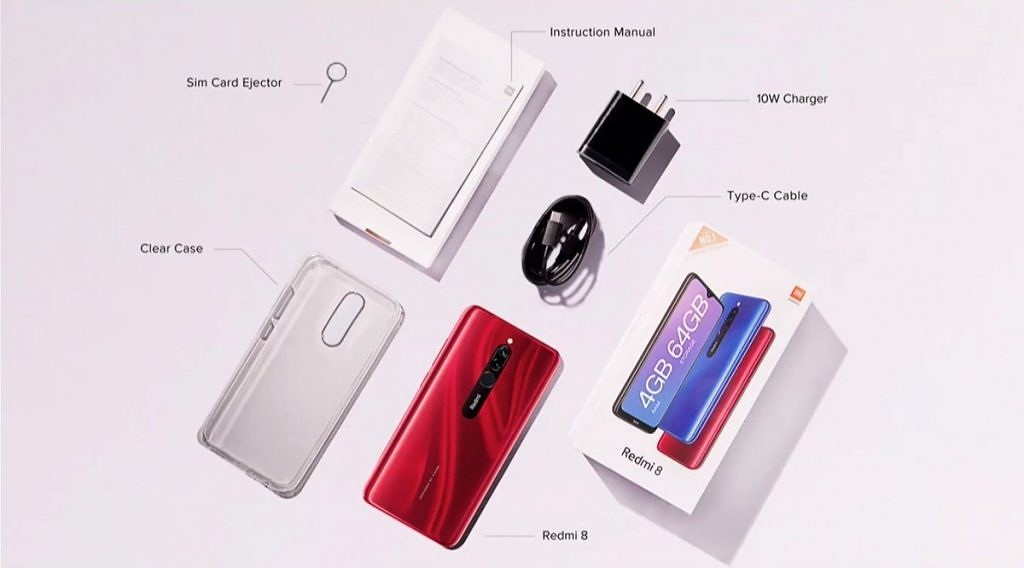 محتويات علبة Xiaomi Redmi8