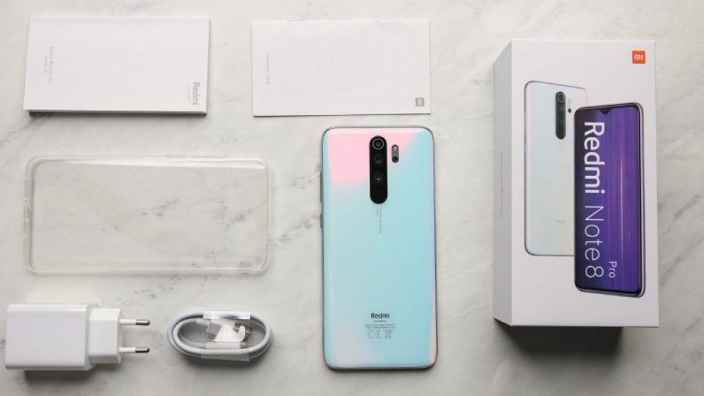 محتويات علبة Note 8 Pro