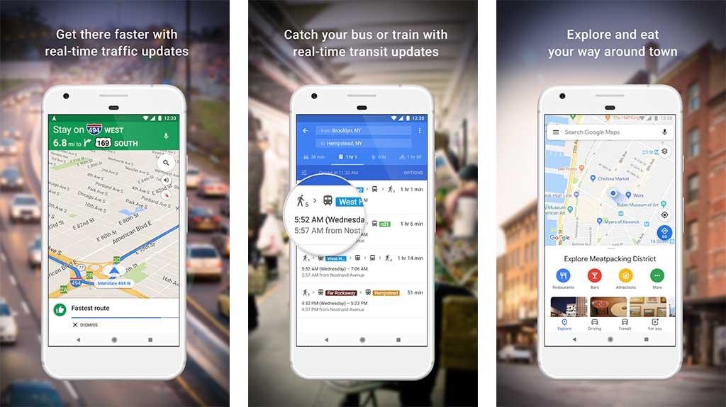 تطبيق خرائط Googleوتطبيق Waze - تطبيقات خرائط للاندرويد
