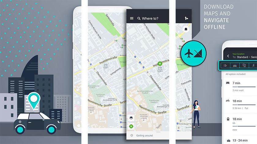 تطبيق HERE WeGo Maps - تطبيقات خرائط للاندرويد