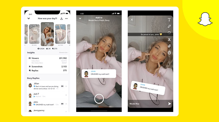 ميزة اضافة صوت المستخدم الي مقطع الفيديوفي سناب شات snapchat
