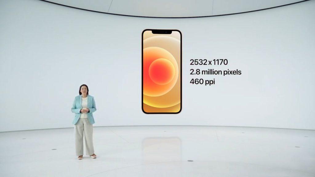دقة شاشة iphone 12