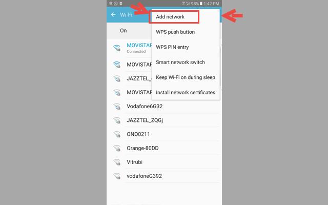 كيفية اضافة شبكة واي فاي مخفية للاندرويد