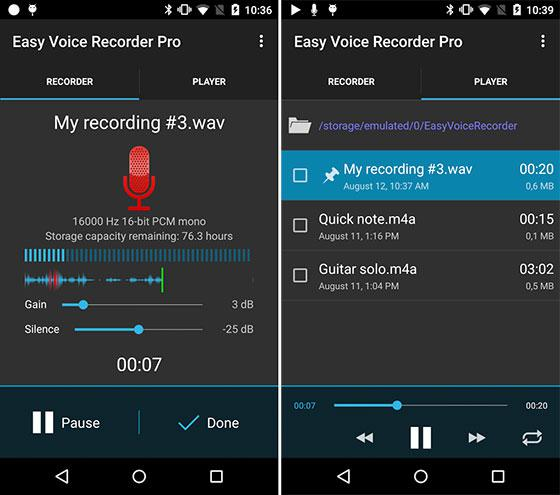 تطبيق Easy Voice مسجل الصوت بجودة عالية