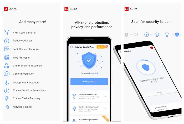 تطبيق Avira افضل تطبيقات مكافحة الفيروسات وحماية الهاتف