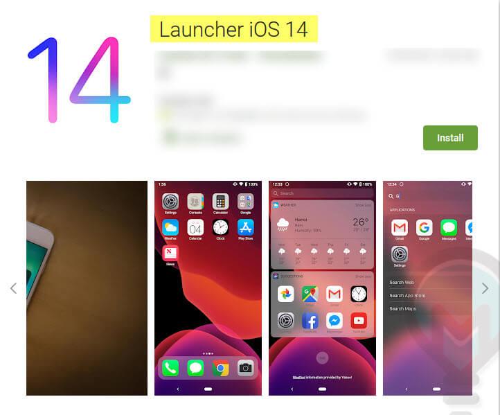 لانشر Launcher iOS 14