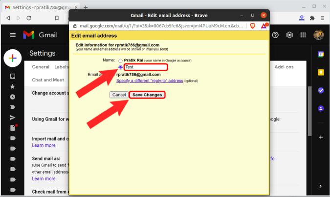 كيفية تغيير Gmail في الهاتف