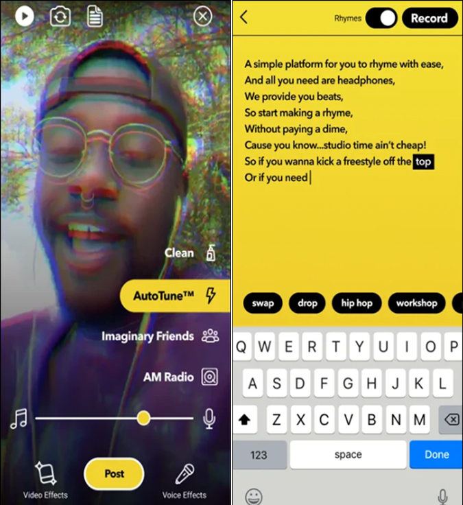 Facebook's BARS rapping app
