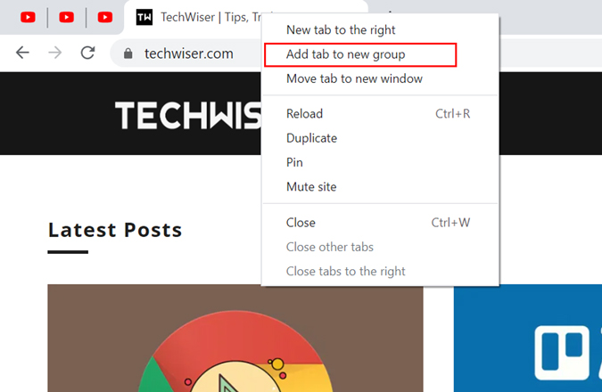 Chrome's native group tab feature