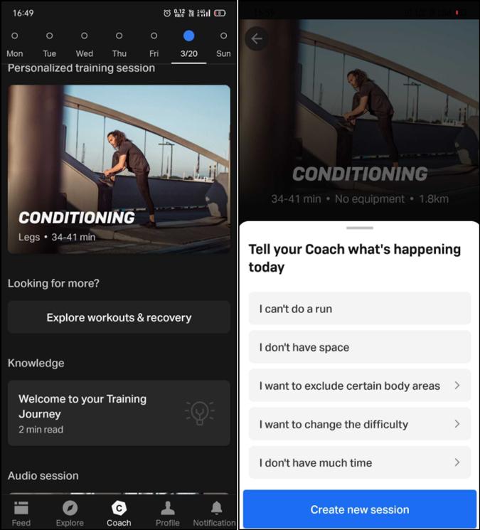 Freeletics HIIT workout app