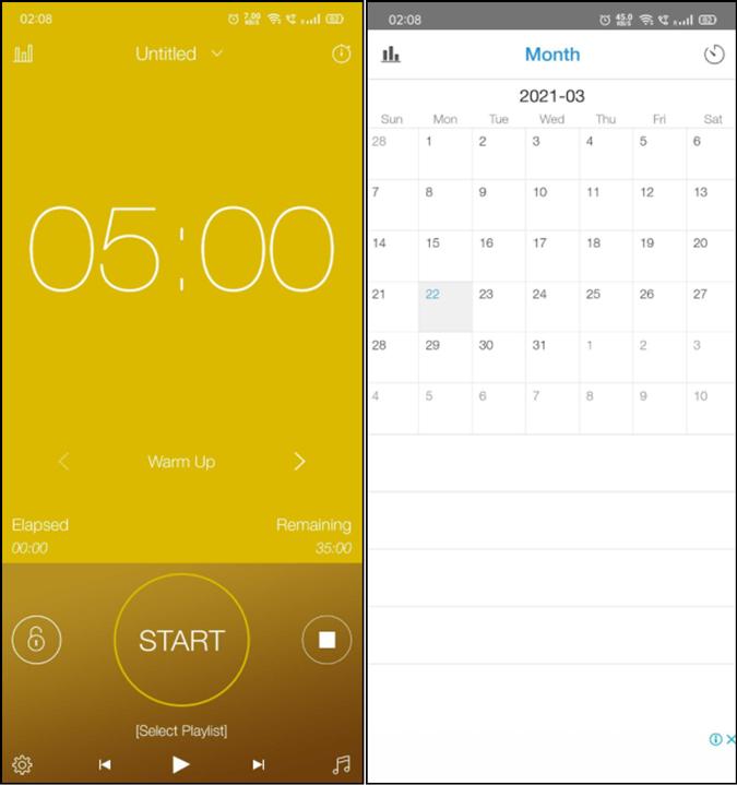 HIIT workout interval timer app