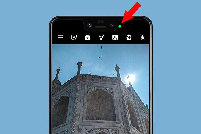 كيفية الحصول على iPhone مثل مؤشر النقطة البرتقالية / الخضراء على شريط حالة Android