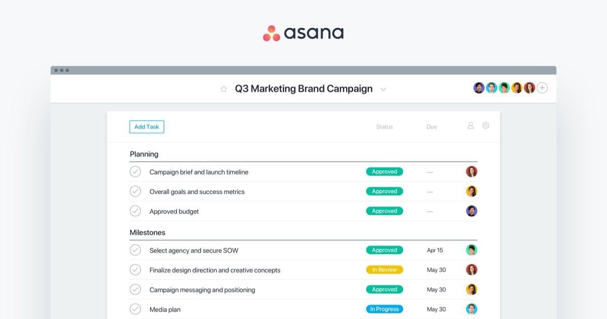 Asana workspace management tool is one of Trello alternatives