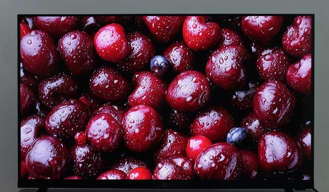 Oneplus tv showing cherries