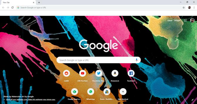 كيفية تعيين خلفية مخصصة كصفحة علامة تبويب جديدة في Chrome
