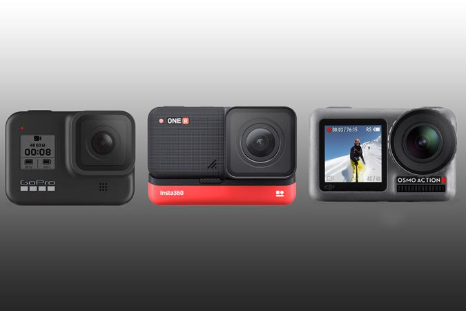 DJI Osmo Action vs . GoPro 8 مقابل . Insta360 واحد